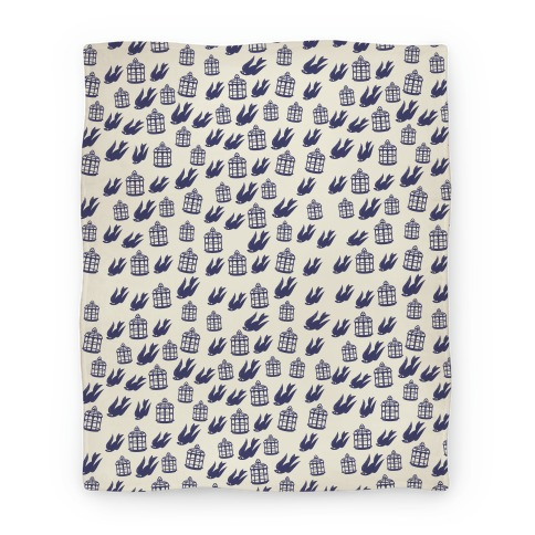 Bioshock Infinite Pattern (Bird and Cage) Blanket