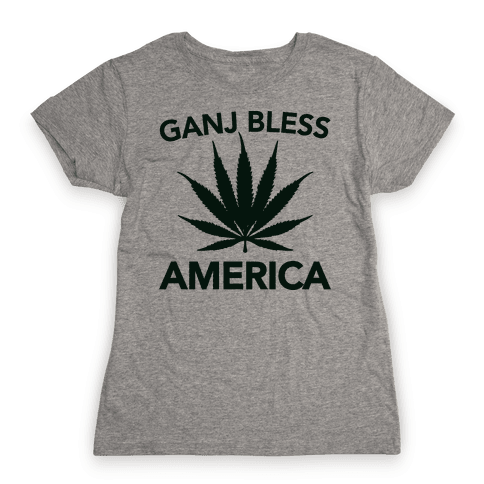 Ganj Bless America Womens T-Shirt