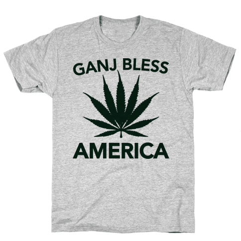 Ganj Bless America Mens T-Shirt