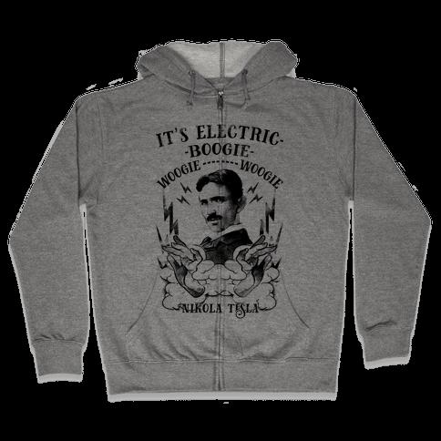 It's Electric Nikola Tesla Zip Hoodie