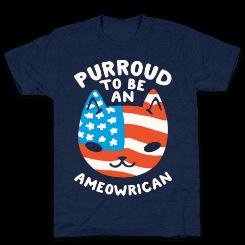 Purroud to be an Ameowrican Mens T-Shirt