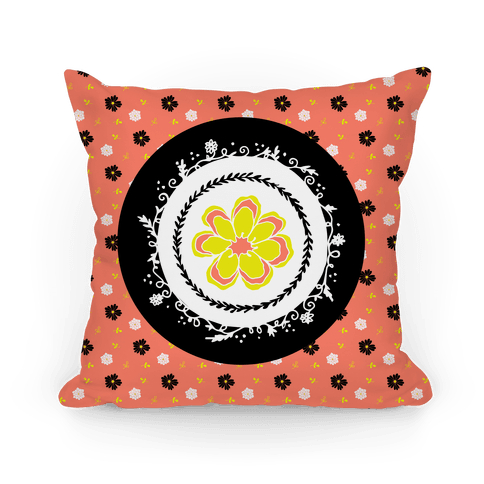 Springtime Floral Mandala (Coral)