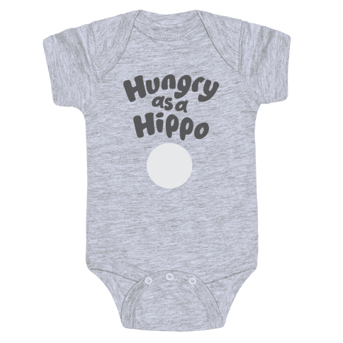 Hungry as a Hippo Baby Onesy