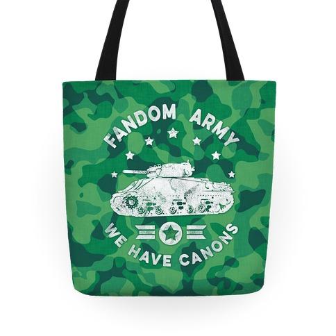Fandom Army Tote