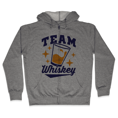 Team Whiskey Zip Hoodie