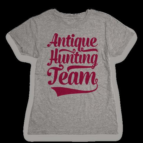 Antique Hunting Team Womens T-Shirt
