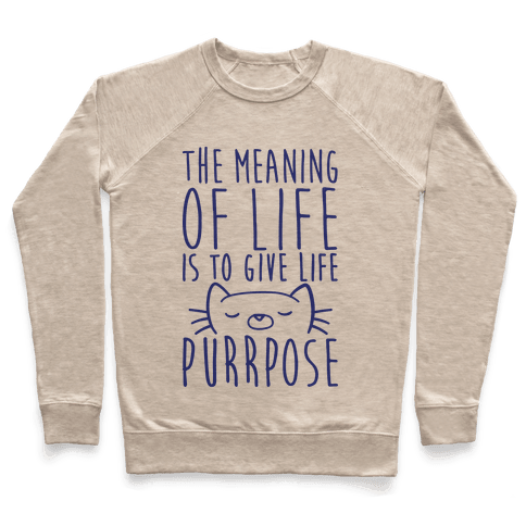 The Meaning of Life is to Give Life Purrpose Pullover