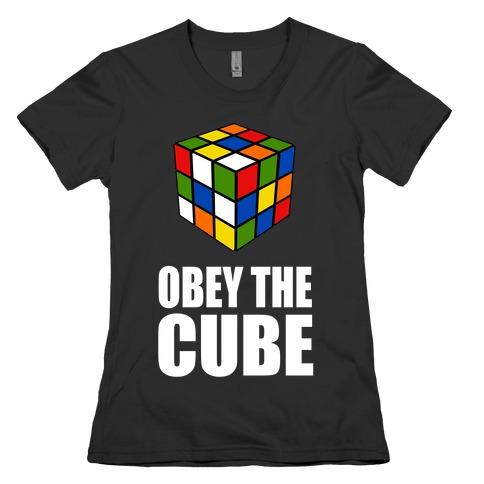 Obey the Cube Womens T-Shirt