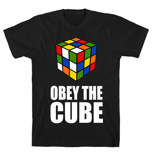 Obey the Cube Mens T-Shirt
