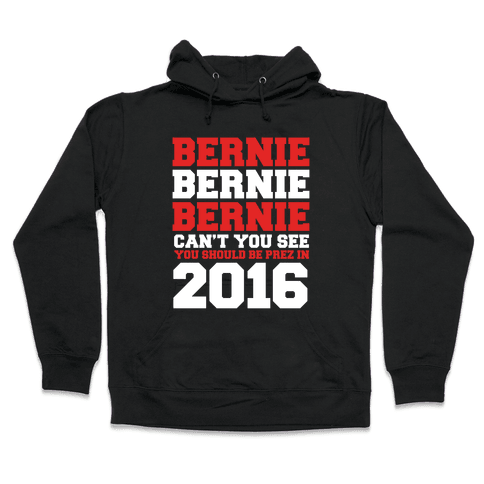 Bernie Should Be Pres in 2016 Hooded Sweatshirt