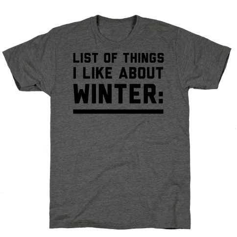 List Of Things I Like About Winter