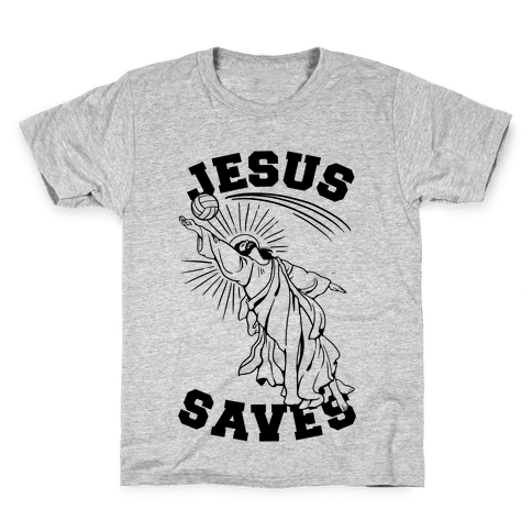 Jesus Saves (Volleyball) Kids T-Shirt