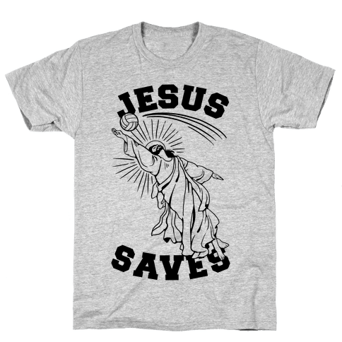 Jesus Saves (Volleyball) Mens T-Shirt