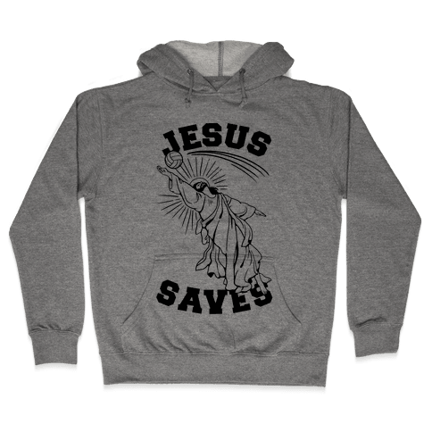 Jesus Saves (Volleyball) Hooded Sweatshirt