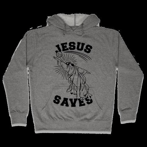 Jesus Saves (Volleyball) Hooded Sweatshirt
