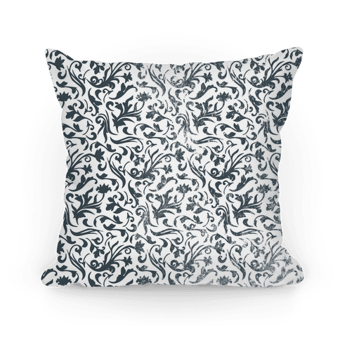 Black and White Medieval Flower Pattern
