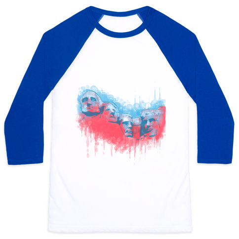 Watercolor Rushmore Baseball Tee