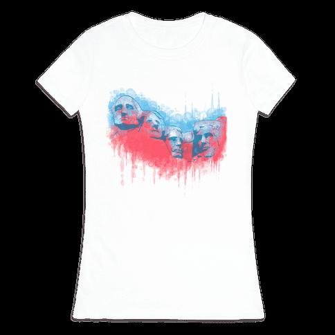 Watercolor Rushmore Womens T-Shirt