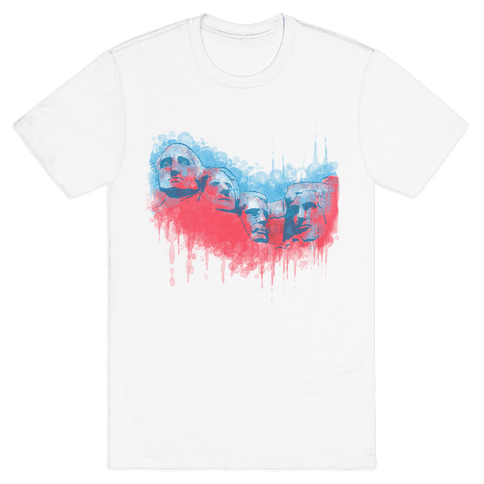 Watercolor Rushmore Mens T-Shirt