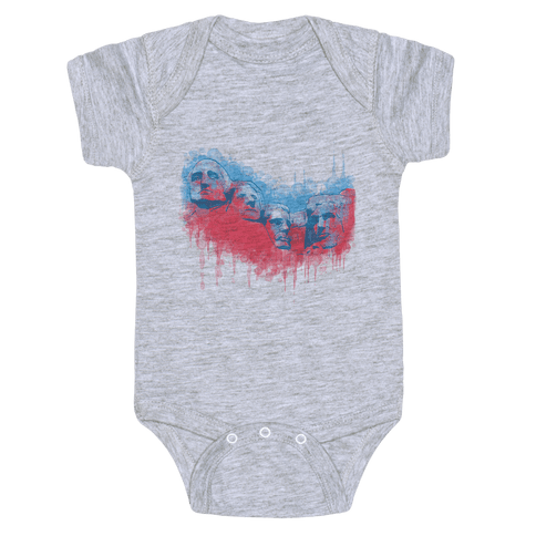 Watercolor Rushmore Baby Onesy