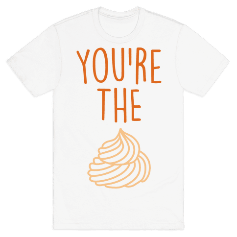 Whipped Cream (Whipped Cream & Pumpkin Pie Couples Shirt) Mens T-Shirt