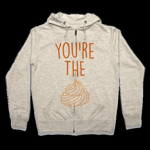 Whipped Cream (Whipped Cream & Pumpkin Pie Couples Shirt) Zip Hoodie