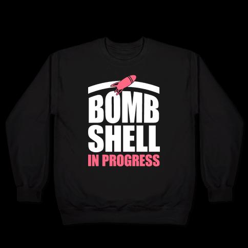 Bombshell In Progress (White & Pink) Pullover