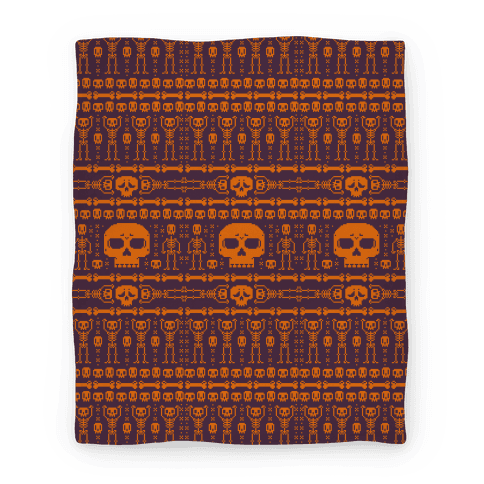 Ugly Skeleton Sweater Pattern Blanket