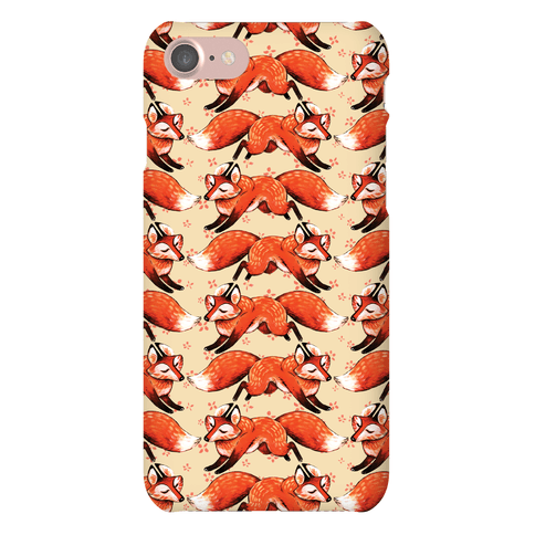 Running Foxes Pattern Phone Case