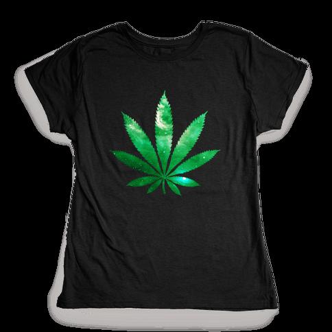 Galaxy Leaf Womens T-Shirt