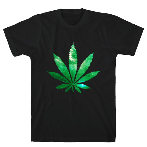 Galaxy Leaf Mens T-Shirt
