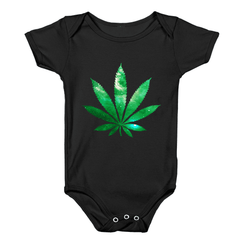 Galaxy Leaf Baby Onesy