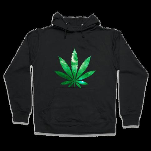 Galaxy Leaf Hooded Sweatshirt