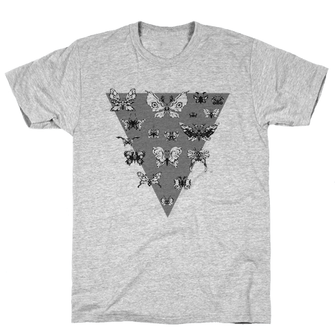 Moth Triangle Mens T-Shirt