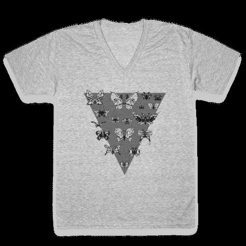 Moth Triangle V-Neck Tee Shirt