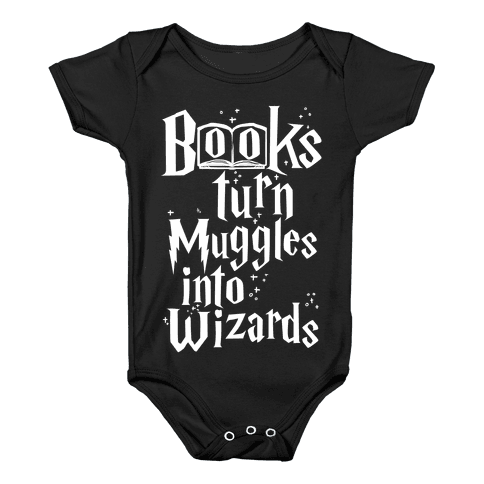 Reading Turns Muggles Into Wizards Baby Onesy