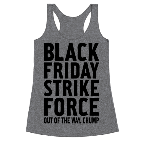 Black Friday Strike Force Racerback Tank Top