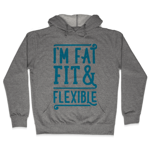 Fat Fit and Flexible Hooded Sweatshirt