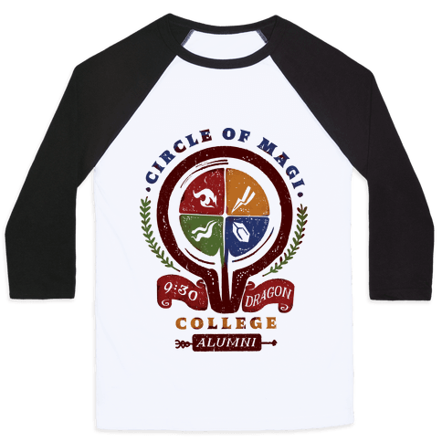 College of Magi Alumni Baseball Tee