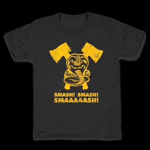 Hatchet Kai (Hitchhiker Shirt) Kids T-Shirt