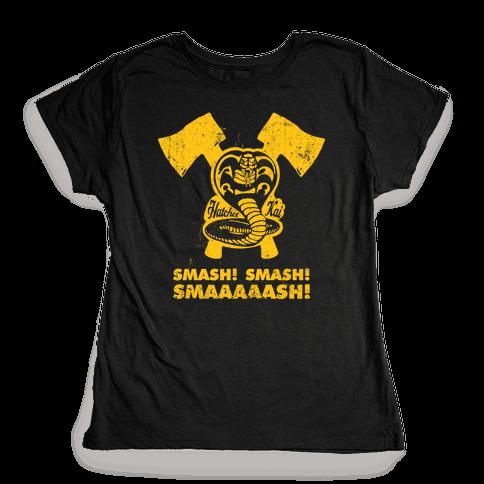 Hatchet Kai (Hitchhiker Shirt) Womens T-Shirt