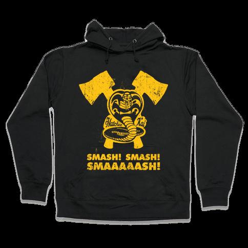 Hatchet Kai (Hitchhiker Shirt) Hooded Sweatshirt