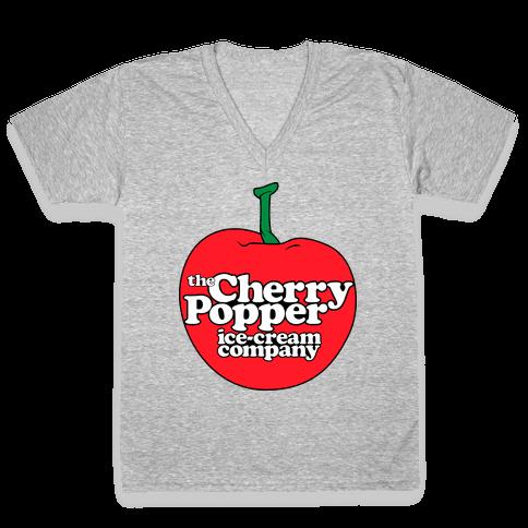 Cherry Popper Ice-Cream Company Shirt V-Neck Tee Shirt