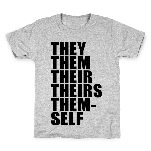 Gender Pronouns T-Shirts | LookHUMAN