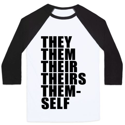 Gender Pronoun Guide Baseball Tee