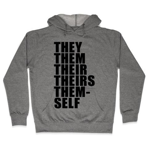 Gender Pronoun Guide Hooded Sweatshirt