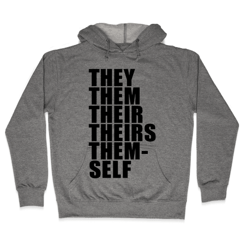 Gender Pronoun Guide Hooded Sweatshirt