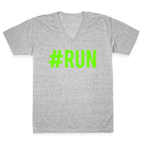 #Run V-Neck Tee Shirt