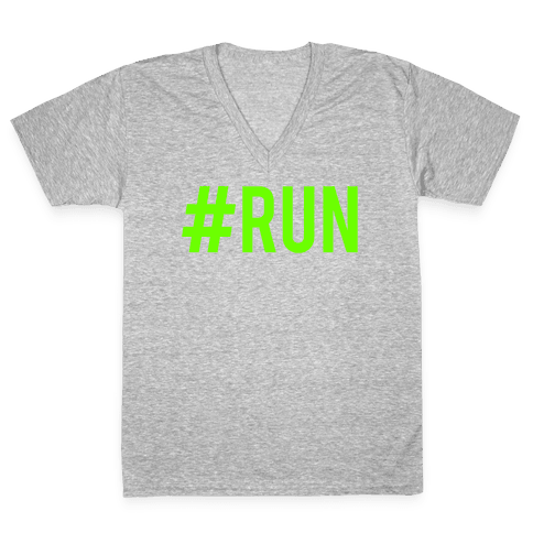 #Run V-Neck Tee Shirt