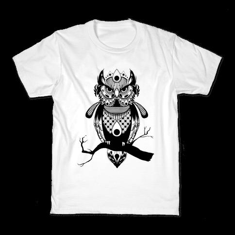 Patterned Owl Kids T-Shirt